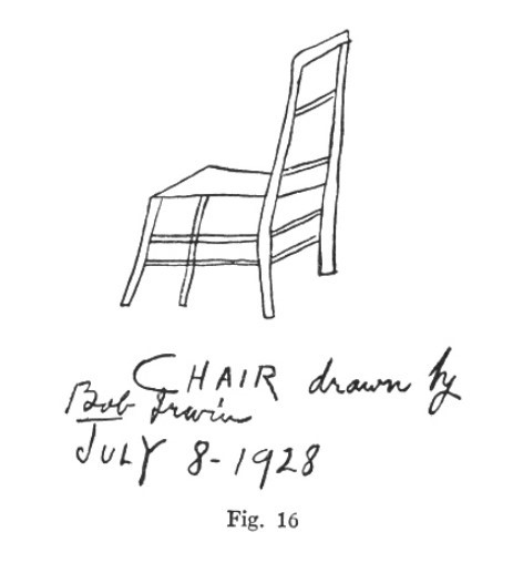 Bob Irwin's drawing of a chair