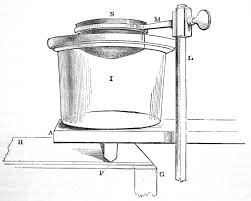 Illustration of water container on wooden board