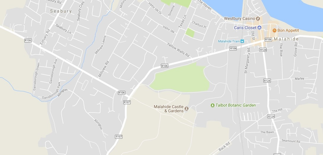 Google map of Malahide, Ireland