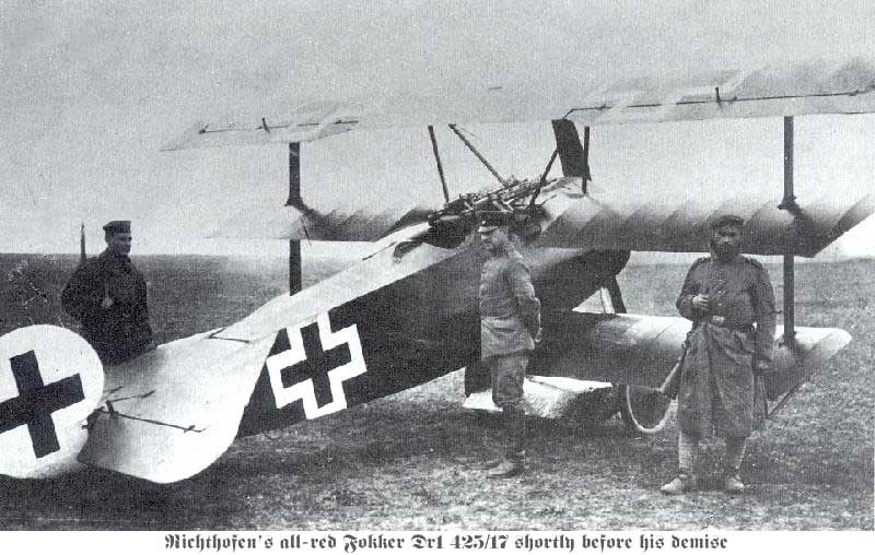 photograph of German World War I Fokker Dr1 triplane
