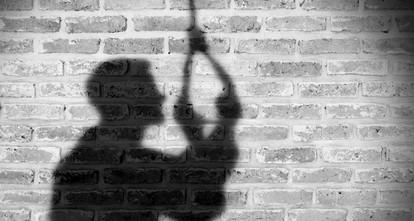 photo of man hanging himself