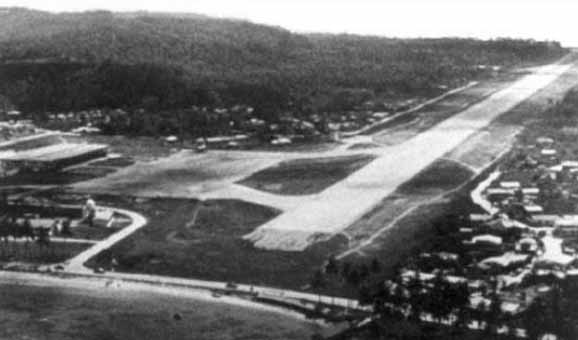 Photograph of the airport, which is on an island, as confirmed by Puthoff.