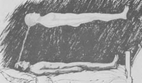 Illustration from The Phenomena of Astral Projection by Muldoon & Carrington (1951)