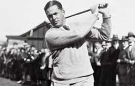photograph of Bobby Jones, the 1920s golf star whose life was remembered by a two-year-old American boy