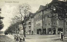 photographic postcard of Eberswalde in the nineteenth century