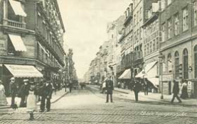 1907 photograph of Kongensgade street in Copenhagen, where the fire broke out