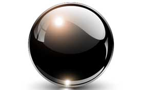 image of black crystal ball