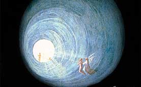 detail from Paradise: Ascent of the Blessed, by Hieronymus Bosch