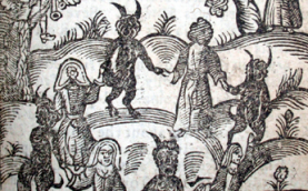 Illustration from Kingdom of Darkness by Nathaniel Crouch, 1728 (detail)