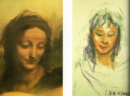 Comparison of a portrait by Leonardo Da Vinci and a mediumistic painting attributed to Da Vinci