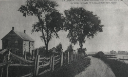 Postcard scene of the McDonald house (courtesy of Ruby and Eleanor Colwell)