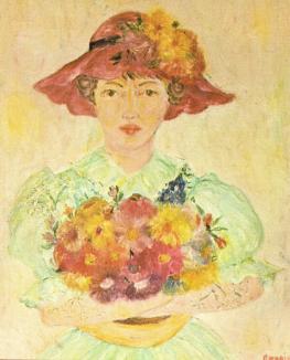 Mediumistic painting attributed to Renoir