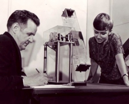 Pratt in psychokinesis experiment using a mechanical dice shaker
