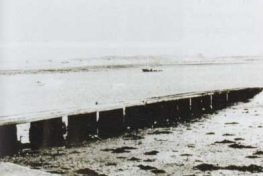 photo of the jetty in Malahide where Mary sometimes waited in the evenings