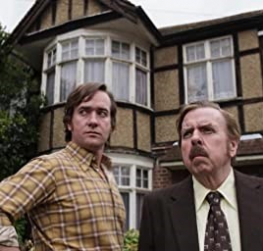 Grosse as played by Timothy Spall (right) and Matthew Macfadyen as Guy Lyon Playfair in the 2015 Sky television miniseries The Enfield Haunting