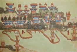 illustration by Hélène Smith of 'martian landscape'