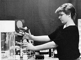 photo of Tina Resch being tested in the laboratory (3)