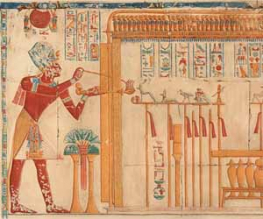 Copy of a wall painting at the Temple of Seti at Abydos