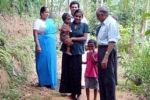 Visiting Sri Lankan children and their families