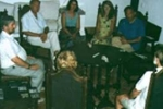 Photograph of a sitting for physical phenomena of mediumship at Scole, Norfolk