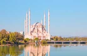 photograph of stone bridge and mosque at Adana