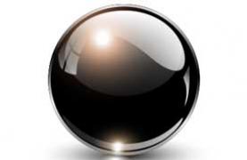 image of black crystal ball