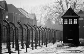 photograph of Auschwitz death camp