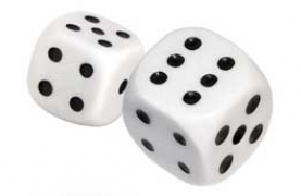 image of dice being thrown