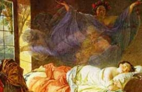 Painting - A Dream of a Girl Before a Sunrise (1833) by Karl Bryullov