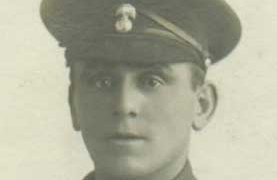 photograph of soldier of the Northumberland Fusiliers of World War 1